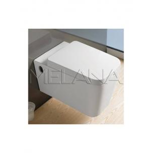 Унитаз подвесной (черный) 570х360х375 MELANA (сиденье микролифт, межосевое 180)