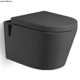 Унитаз подвесной 560х380х340 MELANA Черный (сиденье микролифт, межосевое 180)